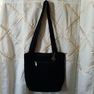 The Sak Black Knit Crossbody purse